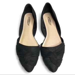 Seychelles d'Orsay Black Knotted Mimosa Flats 8